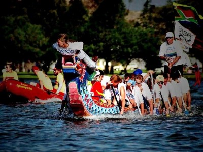 The Cape Town Dragon Boat Racing Club , a tour attraction in Cape Town, Western Cape, South