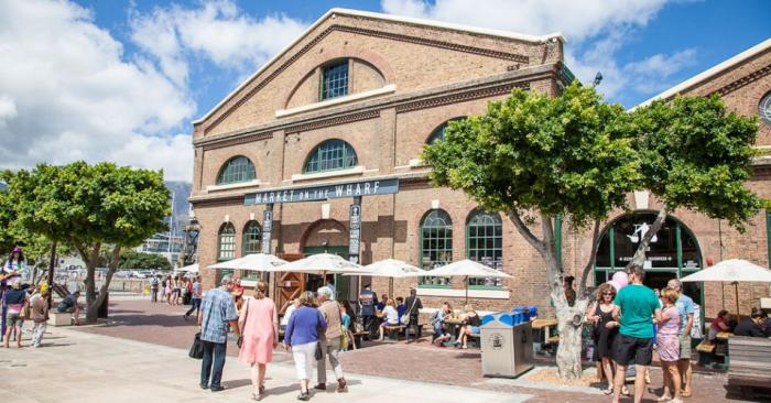 Market on the Wharf at the V&A Waterfront, a tour attraction in Cape Town, Western Cape, South