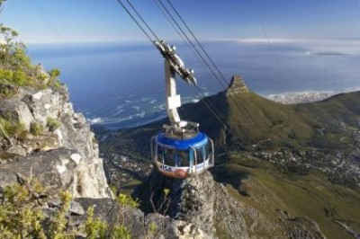 Catch a cable car up Table Mountain, a tour attraction in Cape Town, Western Cape, South