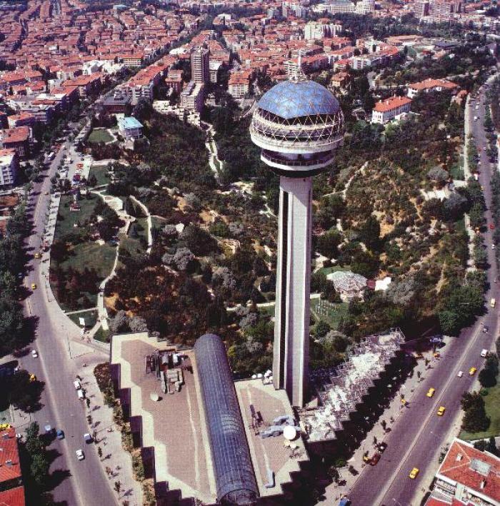 Atakule, a tour attraction in Ankara Türkiye
