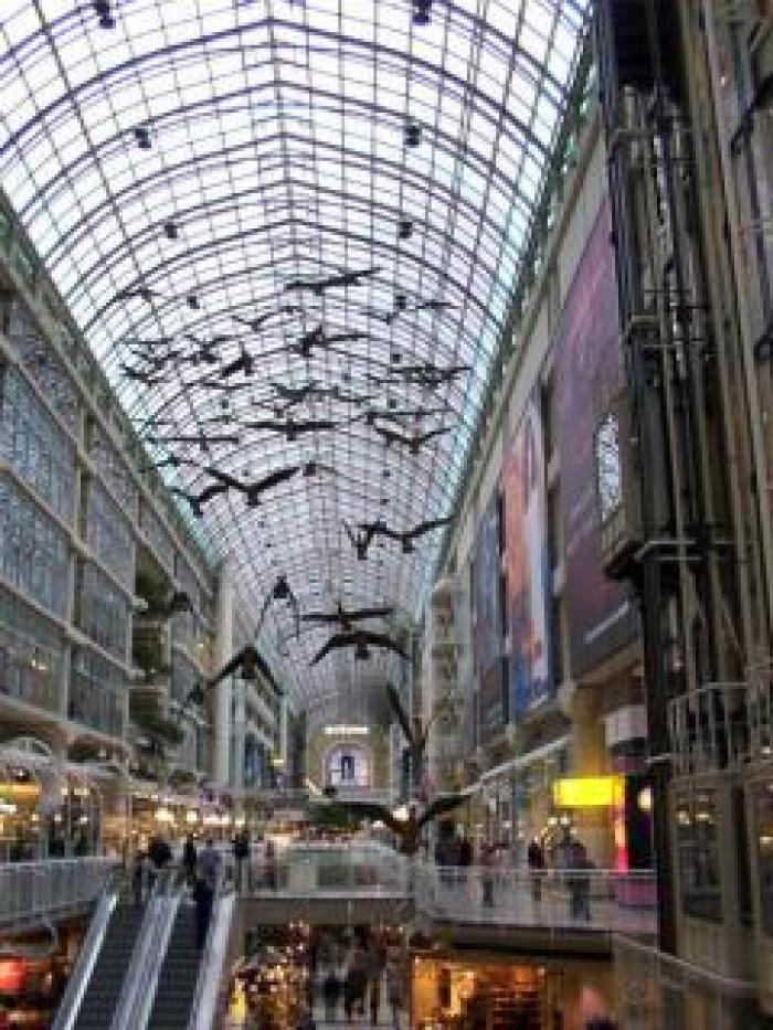 Toronto eaton centre, a tour attraction in