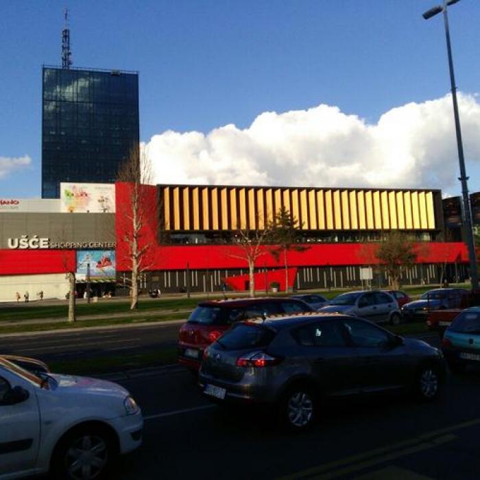 Ušće Shopping Center, a tour attraction in Novi Beograd Србија
