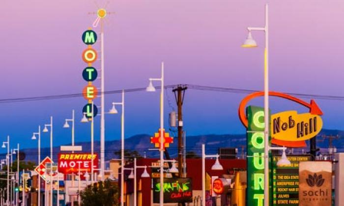Nob Hill, a tour attraction in Albuquerque United States
