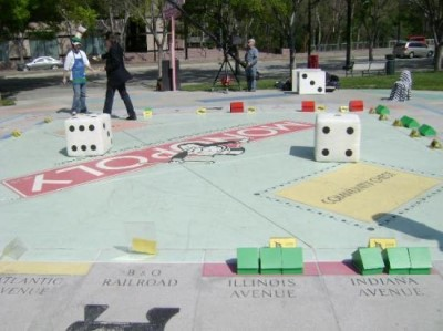 Monopoly in the Park, a tour attraction in San Jose United States