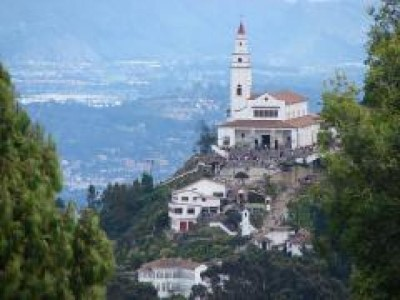 Monserrate, a tour attraction in Bogota, Colombia