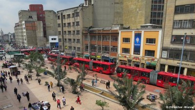 Transmilenio, a tour attraction in Bogota, Colombia
