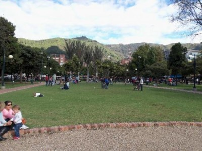 Parque de la 93, a tour attraction in Bogota, Colombia