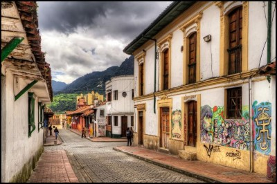 La Candelaria, a tour attraction in Bogota, Colombia