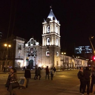 Iglesia de San Francisco, a tour attraction in Bogota, Colombia