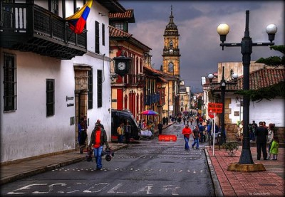 El Candelario, a tour attraction in Bogota, Colombia