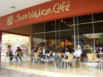 Juan Valdez Café, a tour attraction in Bogota, Colombia