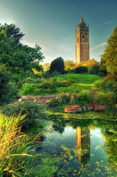 Cabot Tower, a tour attraction in Bristol, United Kingdom