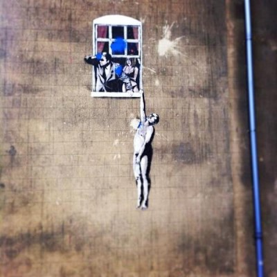 Banksy art, a tour attraction in Bristol, United Kingdom
