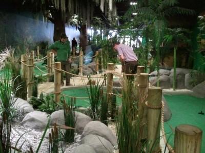 Jungle Rumble Adventure Golf, a tour attraction in Bristol, United Kingdom