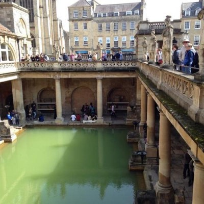 The Roman Baths, a tour attraction in Bristol, United Kingdom