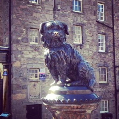 Greyfriars Bobby's Statue, a tour attraction in Edinburgh, United Kingdom