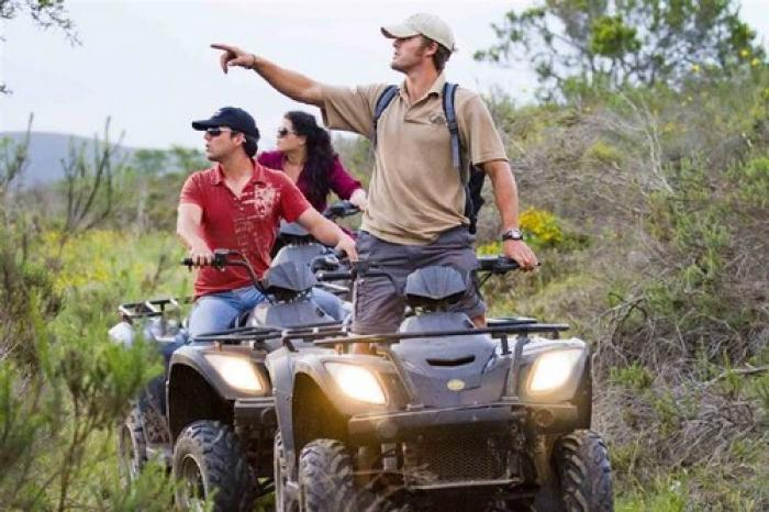Guided quad bike safari , a tour attraction in The Garden Route South Africa