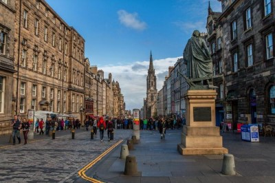 The Royal Mile, a tour attraction in Edinburgh, United Kingdom