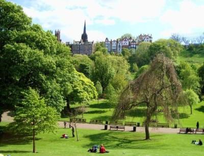 Princes Street Gardens, a tour attraction in Edinburgh, United Kingdom