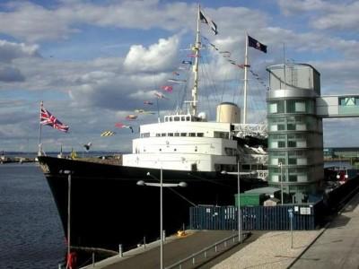 The Royal Yacht Britannia, a tour attraction in Edinburgh, United Kingdom