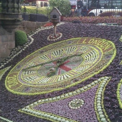 Floral Clock, a tour attraction in Edinburgh, United Kingdom