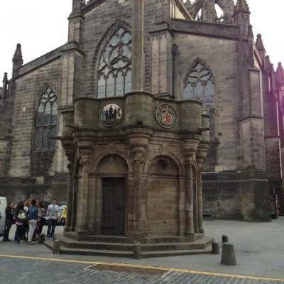 Canongate Mercat Cross, a tour attraction in Edinburgh, United Kingdom