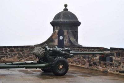 One O'clock Gun, a tour attraction in Edinburgh, United Kingdom