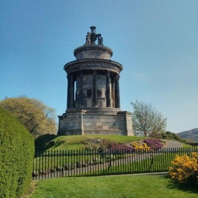 Burns Monument, a tour attraction in Edinburgh, United Kingdom