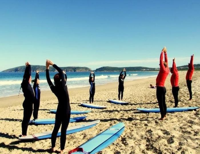 Learn to surf, a tour attraction in The Garden Route South Africa