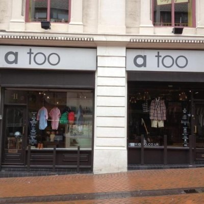 A Too Menswear, a tour attraction in Birmingham, United Kingdom