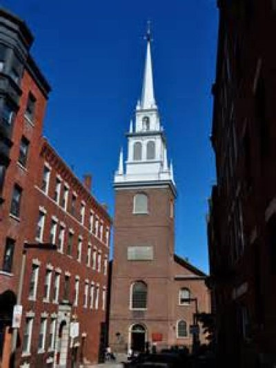 The Old North Church, a tour attraction in Boston, MA, United States