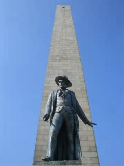 Bunker Hill Monument, a tour attraction in Boston, MA, United States